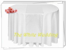 20 WHITE Table Runners Runner Table Wedding Decorations Wedding Satin Table Runners