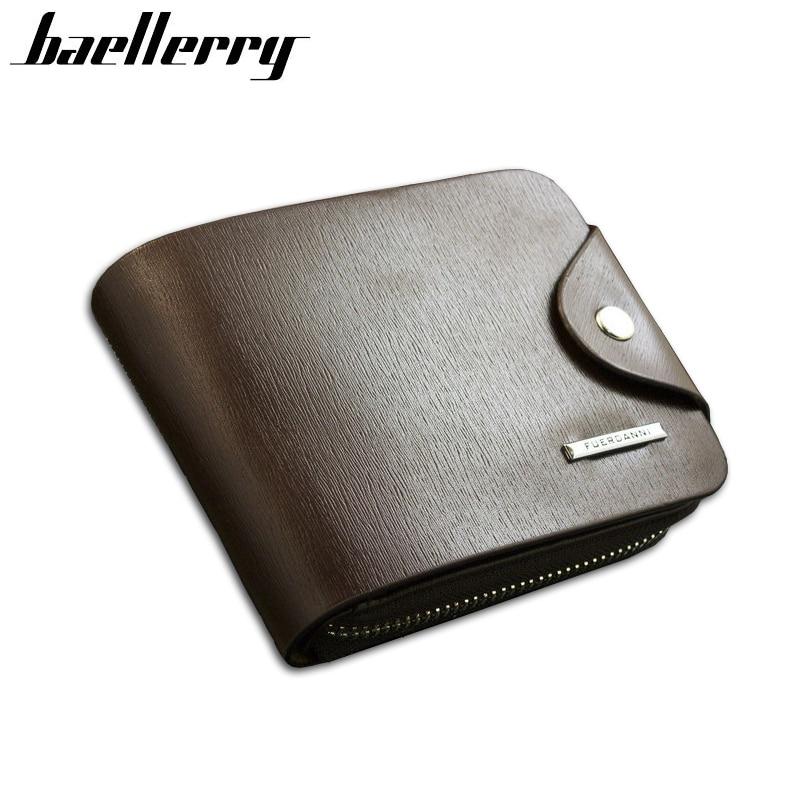 2016 New Men Wallets Genuine Leather Mens Wallet Short Design Zipper Coin Purse Card Holder Casual Purse Carteira for Men<br><br>Aliexpress