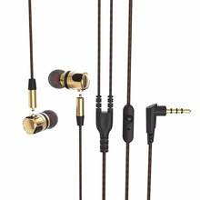 Cost Sale X46M High Quality Earphone Headphones Metal Music Detachable HiFi Earphones In-Ear Headset MIC 3.5 MM Golden And Gray