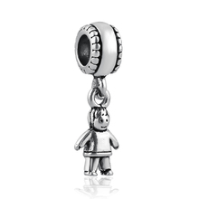free shipping 1pc christmas gift small boy Hanging bead charms Fits European Pandora Charm Bracelets A327