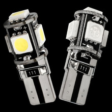 High Quality T10 5 SMD 5050 LED Canbus Error Free Auto Parking Lights W5W 194 5SMD Car Wedge Tail Side Bulbs Reading Lamps DC12V