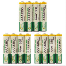 12pcs/lot 1350mah Ni-MH AAA Batteries 1.2V Rechargeable Battery NI-MH Battery for Camera,Toys Led Flashlight Torch