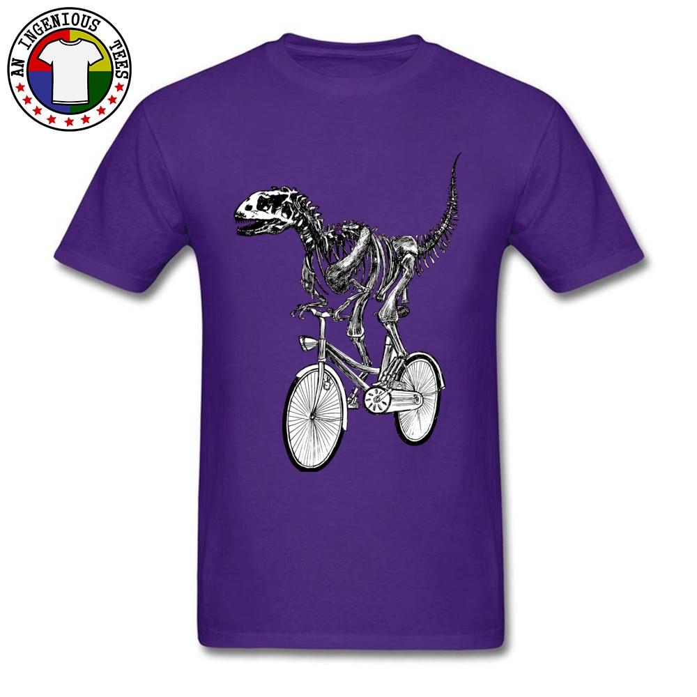 Short Sleeve Tops Shirts O Neck Cotton Men's Top T-shirts Skeleton-Fossil-Bike Normal Tops Shirts 2018 Popular Skeleton-Fossil-Bike purple