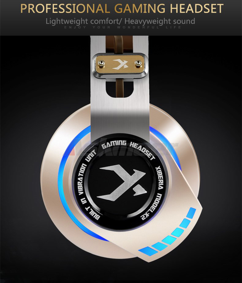 XIBERIA K2 Computer Gaming Headphones Stereo Surround Sound Glowing LED Light Game Headset Gamer with Microphone fone de ouvido (10)