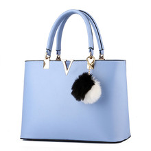 2017 New Bags Woman Concise Leisure Fashion Socialite Sweet Girl Handbag Candy Color Blue Lavender Pink White Red Top Handle Bag(China)