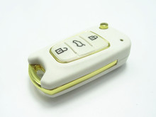 1pc New replacement 3 button Remote flip key case for Hyundai I30 IX35 flip remote key shell uncut blade auto parts