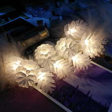 AKDSteel 10 LED Pine Cone String Lights Night Lamp Christmas Tree Hanging Pendant Festivals Wedding Party Yard Decoration Gift(China)