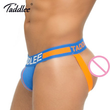 Buy Taddlee Brand Sexy Men's Jockstraps Underwear Cotton Gay Penis Pouch Briefs Bikini Thong G Strings Low Waist Backless Buttocks