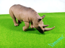 Simulation Model of Wild Animals Toys PVC Animals World Black Rhinos Static Model Plastic Action Figures Toys Gift for Kids