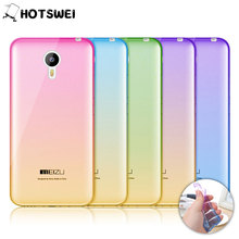 For Meizu M2 Note / M3 Note NEW Gradient Colors Soft TPU Case for Meizu M3 M2 MX5 Ultra Thin 0.3mm Phone Cases Cover