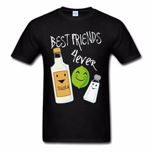 T-Shirt 2017 Fashion Men Harajuku Funny Men Tee Shirts Best Friends Forever Tequila Lime Salt Funny Tee Shirt Manufacturers(China)