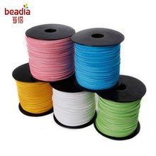 Promotion 3mm 100yards/roll Mixed Color Faux Suede Cord DIY Lace Leather for Cloth Shoes Making Supplies Finding Accessories