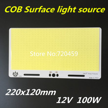 High power car light 12V LED cob module LED panel light 220x120mm 12V led COB high light free shipping cob surface light source