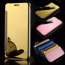 SUYACS Samsung Galaxy A3 A5 A7 2015 2016 2017 Case Cover Luxury Leather + Hard PC Flip Stand View Mirror Phone Cases Coque