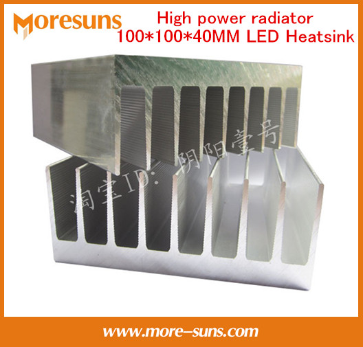 Fast Free Ship High power radiator Aluminum heat sink LED heat dissipation plate 100*100*40MM LED Aluminum Heatsink <br>