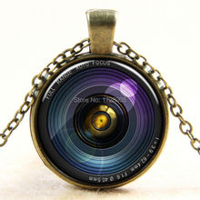 Trendy Women Jewelry Digital Camera Lens Necklace Glass Dome Photo Pendant Necklace 3pcs Best Friends Fashion Necklace(China)