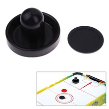 1Set Air Hockey Pusher Classic Game Air Hockey Table Pucks(96mm) With Felt Pusher(63mm) Mallet Grip For Entertainment Table Game(China)