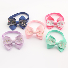 Armi store Handmade  Floral Ribbon Dog Tie Bow Ties For Dogs 6031029 Pet Boutique Accessories