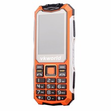 Russian Keyboard VKWorld Stone V3S 2.4 inch Daily Waterproof Dropproof Dustproof Mobile Phone Dual LED Light Dual SIM Cell Phone(China)
