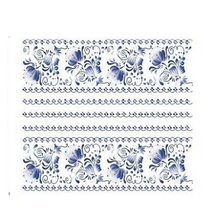 New 1 Piece  Water Transfers Stickers Nail Decals Stickers Water Decal  China Blue Flower Free Shipping