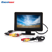 2 in 1 4.3 Inch TFT LCD Car Monitor with Night Vision Rear View Parking Reverse Backup CMOS CCD Camera for Reversing Record