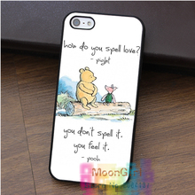 BABY WINNIE THE POOH PIGLET LOVE QUOTE fashion cell phone case for iphone 4 4s 5 5s 5c SE 6 6s 7 6 plus & 6s plus 7 plus #rk39