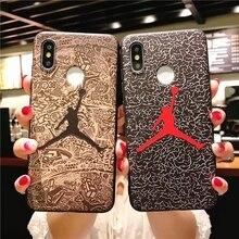 Fashion Flying man 23 Air Jordan case Xiaomi Mi 8 A1 A2 6X 5X Redmi Note 5 Pro S2 4X 5A Soft Silicone Phone Cases Fundas