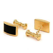 Black Onyx Chain Cufflinks Shirt Cuff for Men Wedding Wholesale Gift(China)