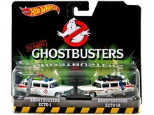 HotWheels GHOSTBUSTERS ECTO-1 & GHOSTBUSTRS ECTO-1A Cartoon 2 cars Die-casts Retro Entertainment