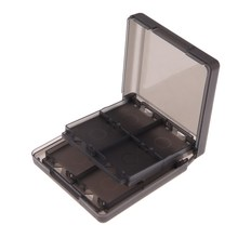 FW1S Black 16-in-1 Game Card Case Holder Storage for N-intendo DS D-SI LL/XL