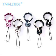 Tmalltide Universal Mini Silicone Soft Camouflage Mobile Phone Straps Ring Pendant Cellphone Accessories for iPhone for Samsung