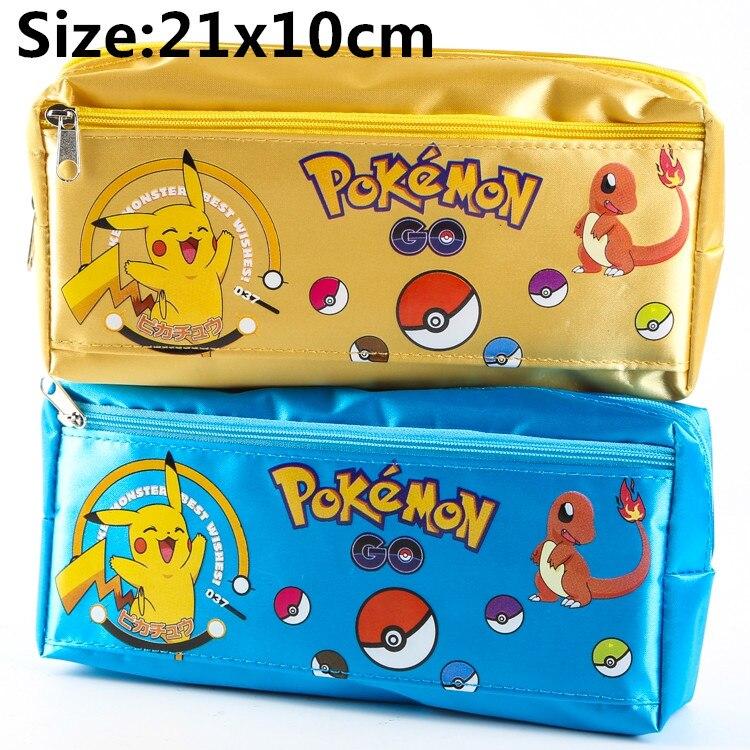 Pokemon Go Pikachu Pencil Pen Case Wallet Bag Cosmetic Make Up Purse Bag Storage Pouch Gift 21x10cm<br><br>Aliexpress