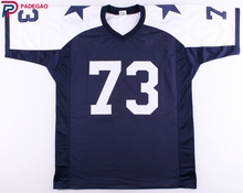 Embroidered Logo Larry Allen white blue throwback high school FOOTBALL JERSEY for fans gift cheap 1211-5(China)