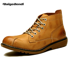 4 Color Comfy Casual Genuine Leather Formal Dress Oxfords Mens Chukka Ankle Boots Winter Work Safety Shoes(China)