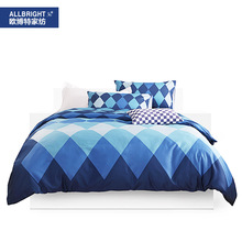 Allbright Ou Bo Special Bedding Pure Cotton 60 Branch Satin Four Paper Set Home Textiles Sonnen(China)