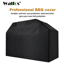 WALFOS Waterproof BBQ Grill Black Cover Garden Patio Rain Anti Dust Proof Barbecue Party Protecter Shield