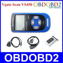 Best Quality VS450 Vgate Scan VS 450 OBD2 OBDII Scan Tool Reset Oil Light Fault Code Scanner Free Shipping