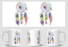 Dream Catcher mugs Tea gifts cold hot heat sensitive coffee mug friend gifts transforming heat changing color(China)