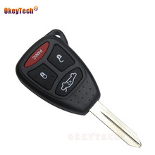 OkeyTech 3+1 4 Buttons For Chrysler Jeep Dakota Dodge Caliber Durango Key Replacement Case Shell Fob and Pad Combo Remote Key(China)