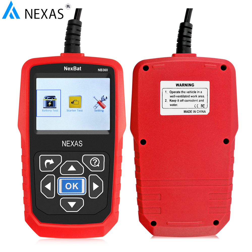 Original NB360 12&amp;24V Car battery Tester Universal Auto battery analyzer both for Mini car and duty trucks Free shipping<br><br>Aliexpress