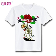 Love Kills Skull T Shirt Design Funny Skeleton Commit Suicide Poison T-shirt Cool Casual Novelty Tshirt Unisex Printed Style Tee(China)