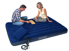 152*203*22CM double plus size air mattress set 68765 inflatable bed,camping mattress, including air pump, 2 pc air pillow