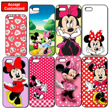 Minnie Mouse Print Cover Case for iPhone 4 4S 5 5S SE 5C 6 6S 7 Plus iPod Touch 5 LG G2 G3 G4 G5 G6 Sony Xperia Z2 Z3 Z4 Z5
