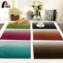 Simple Color Gradient Pattern Table Mat Fashion Dinner Tea Coffee Table Mat Table Napkin For Wedding Home Kitchen Decoration(China)