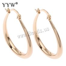 fashion Jewelry women hoop earrings rose gold teardrop hoop earrings for women big loop hoop earrings circle for fashion gift(China)
