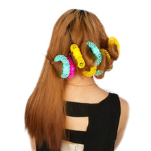 Fashion 8pcs/Pack Hair Curler Spiral Curls Roller Donuts Curl hair self-adhesive plastic small tool Hair accessories