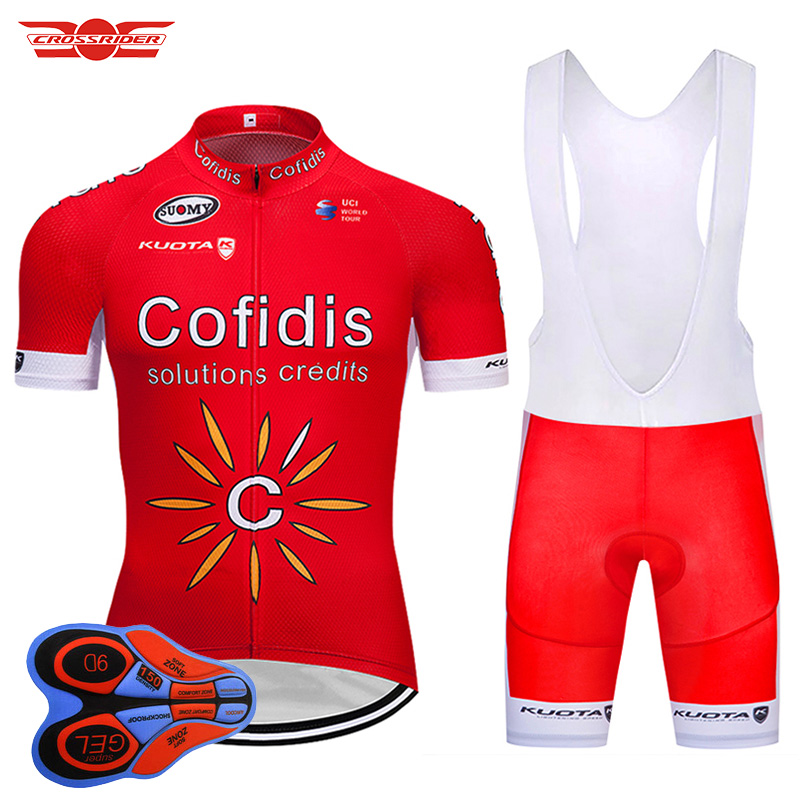 Crossrider 2018 Tour de France Pro Team Red Cycling Jerseys Set MTB clothing Short shirt Ropa Ciclismo Bike Wear Maillot Culotte<br>