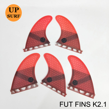 New Design Upsurf Future Fin K2.1 Surfboard Fins Fiberglass Honeycomb Tri-Quad Fins Quilhas Thruster 5 fin Set(China)