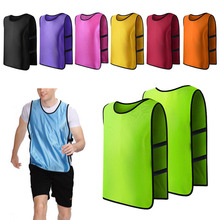 Team Football Soccer Training Adults Pinnies Jerseys Scrimmage Vest Plus Size W15(China)