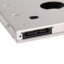 "DVD to HDD/SSD, 7/9.5mm SATA3 SSD Hard Drive Caddy 2.5"" 2nd HDD Caddy Adapter for 9.5mm CD/DVD-ROM Optibay for IBM +more(China)"